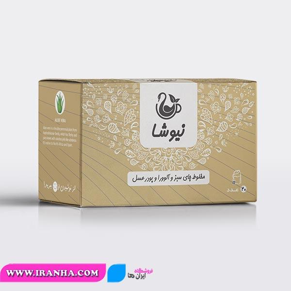مخلوط-چای-سبز-و-آلوورا-و-عسل-کیسهای-نیوشا-aloe-vera